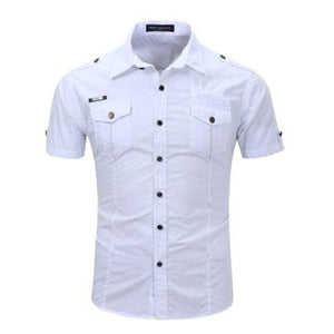 Short Sleeve Cargo Dress Shirt - Some Plus Sizes Available! - Drestiny