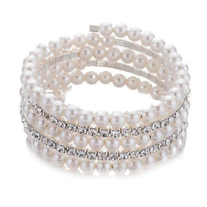 Getting Married? Luxury Braided Crystal Imitation Pearl Bracelet - Drestiny