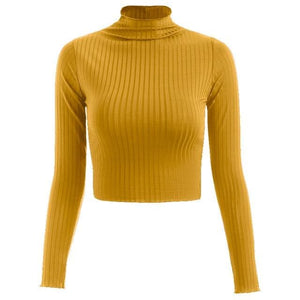 Long Sleeve Crop Turtleneck - 7 Colors Available! - Drestiny