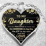 To My Daughter - Love Mom Heart Necklaces