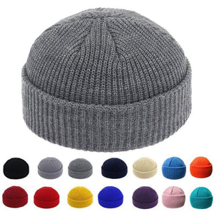 Brimless Knitted Skullcap - 22 Color Choices! - Drestiny