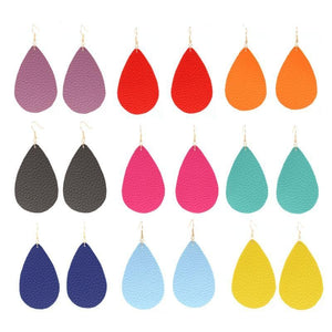 Bright Leather Earrings - *New Arrival* - Drestiny