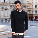 Solid Color Men's Pullover Sweater