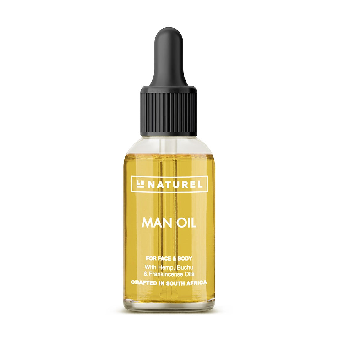 Man Oil (30ml) - For Beard, Face & Body - Le Naturel