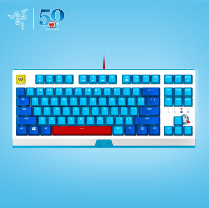 RAZER x Doraemon 50th Anniversary BlackWidow x Tournament Gaming Keyboard - RAZER Pokemon Pikachu