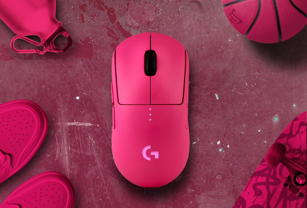 Logitech Pixel Pink G Pro Wireless Limited Edition Gaming Mouse - RAZER Pokemon Pikachu