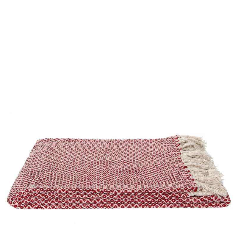 Mica Decorations plaid marsala maat in cm: 170 x 130