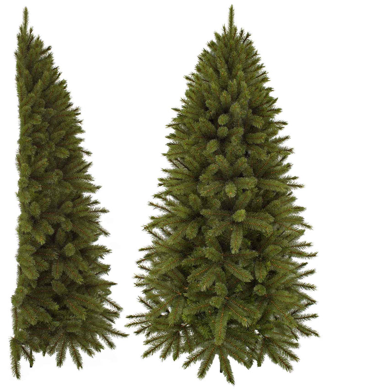 Triumph Tree forest frosted halve kunstkerstboom groen maat in cm: 215 x 122