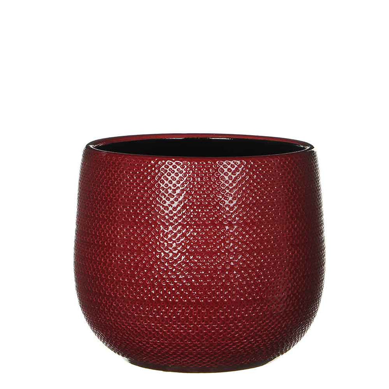 Mica Decorations gabriel ronde pot bordeaux maat in cm: 20 x 25