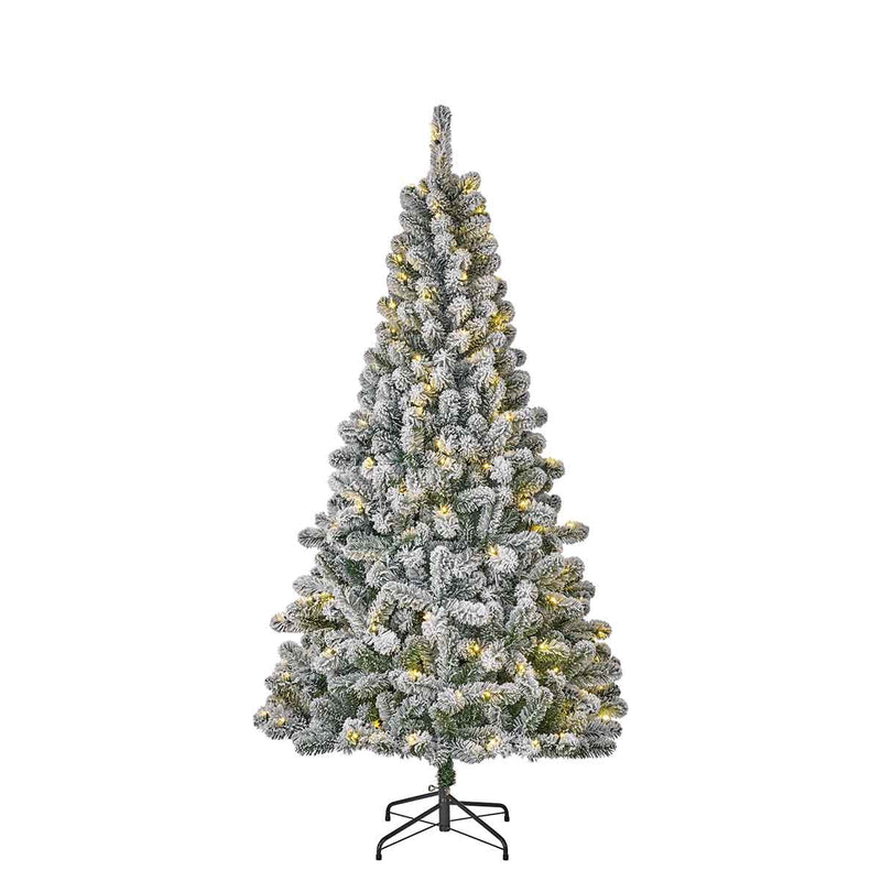Black Box Millington kunstkerstboom met led frosted 160 warmwitte lampjes maat in cm: 215 x 119 groen