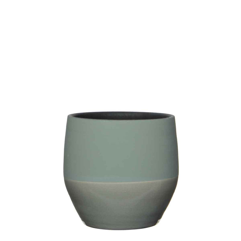 Mica Decorations kari pot groen maat in cm: 18 x 19