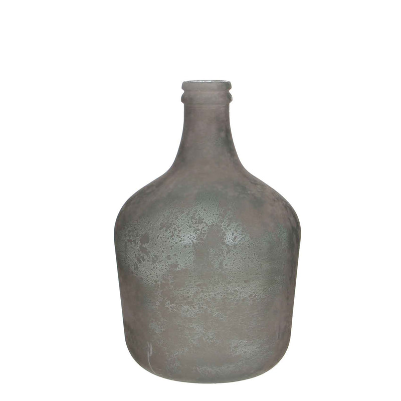 Mica Decorations diego fles glas grijs maat in cm: 42 x 27