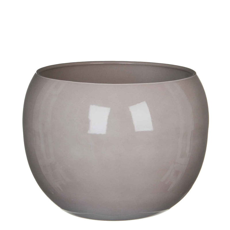Mica Decorations monet pot rond taupe maat in cm: 25 x 31,5