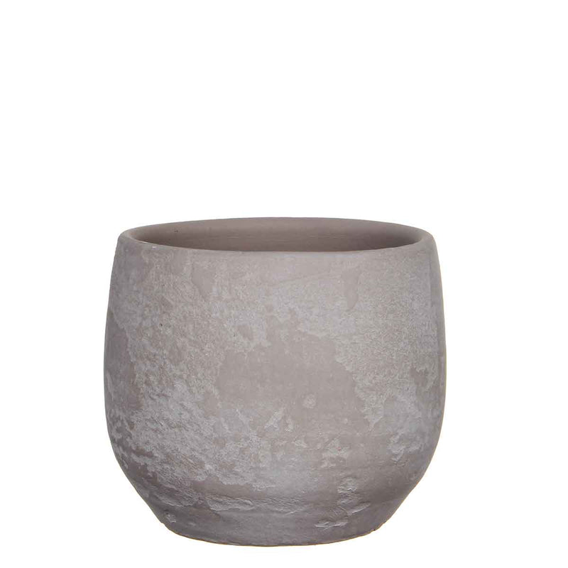 Mica Decorations ramon ronde pot taupe maat in cm: 16 x 19