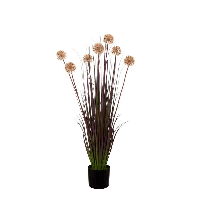 Mica Decorations allium in plastic pot mauve maat in cm: 116 x 17