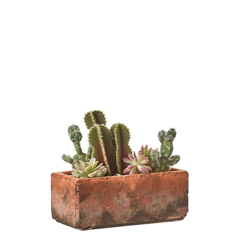 Mica Decorations cactus in pot maat in cm: 23 x 11,5 x 20