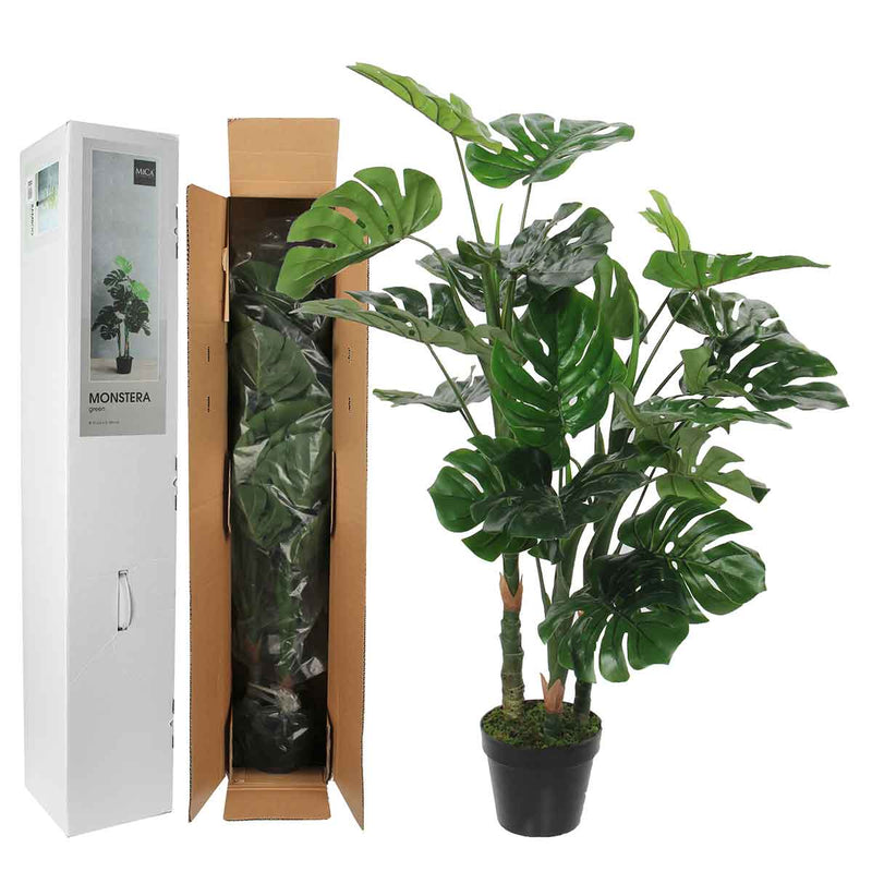Mica Decorations monstera in plastic pot maat in cm: 100 x 70