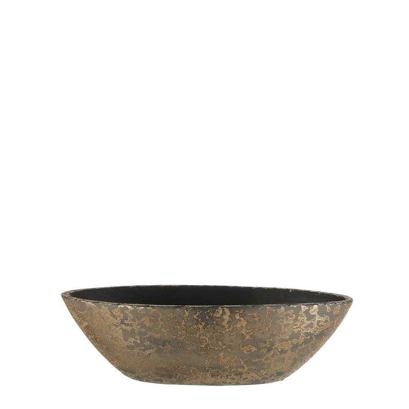 Mica Decorations clemente pot ovaal goud maat in cm: 48 x 19 x 15