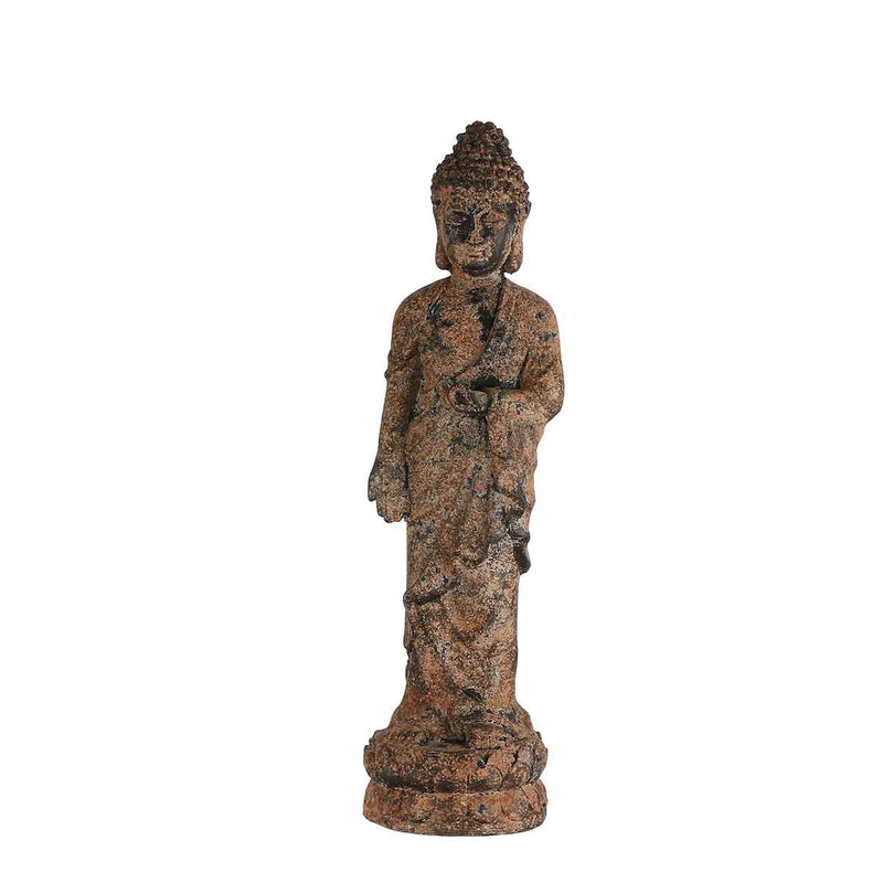 Mica Decorations buddha roest maat in cm: 17 x 18,5 x 70