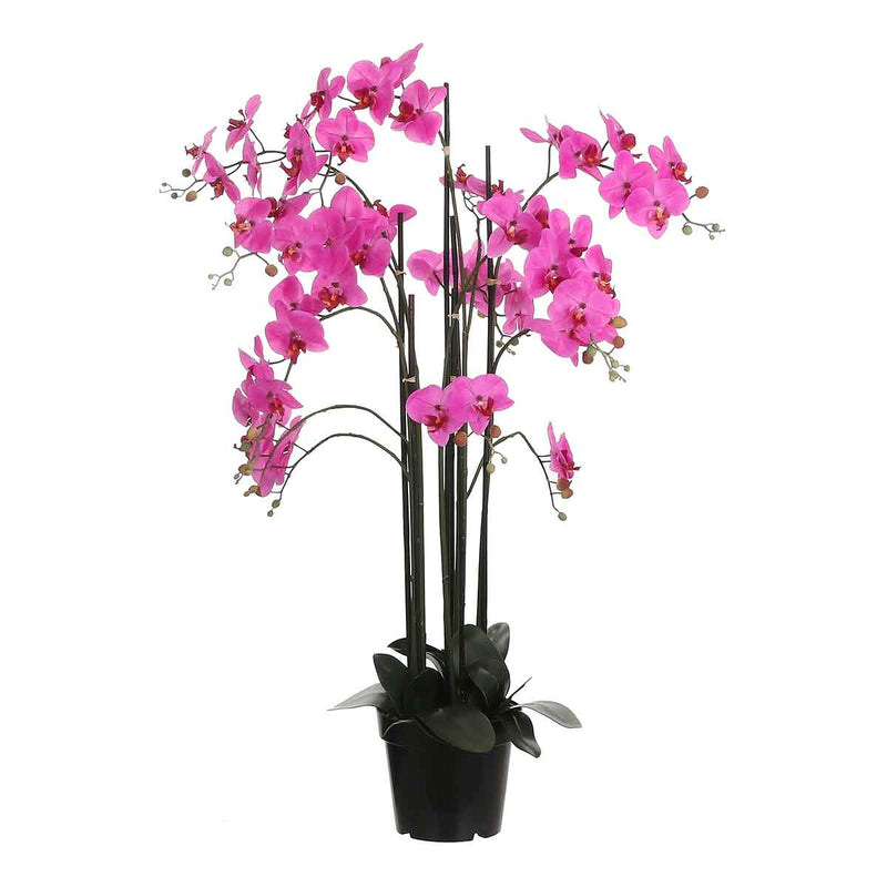 Mica Decorations orchidee in plastic pot paars maat in cm: 35 x 35 x 117