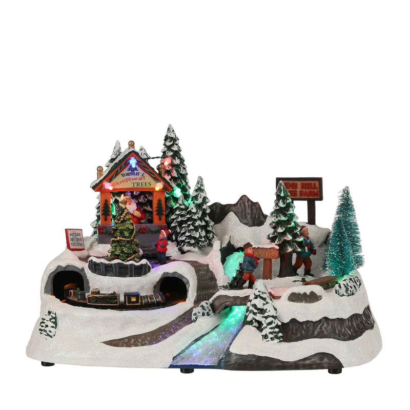 Luville village santa is coming to town op batterij maat in cm: 31 x 19 x 19,5