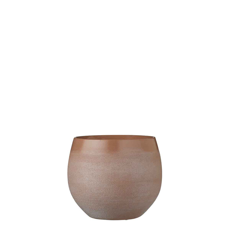 Mica Decorations douro ronde pot taupe maat in cm: 18 x 20