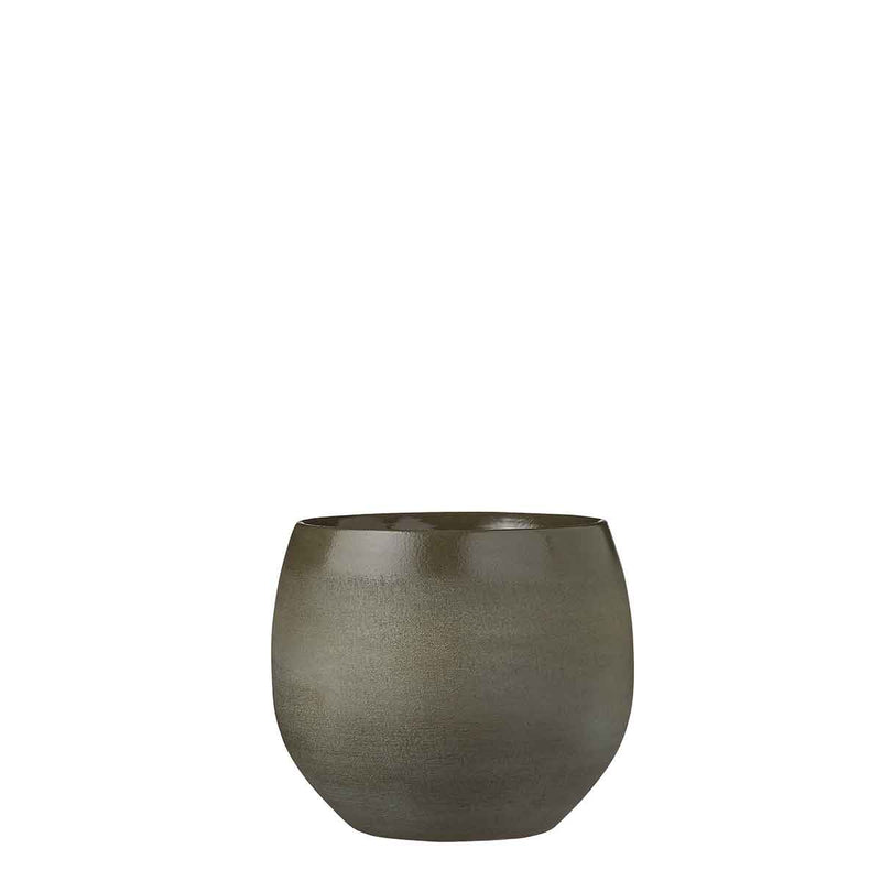 Mica Decorations douro ronde pot groen maat in cm: 18 x 20