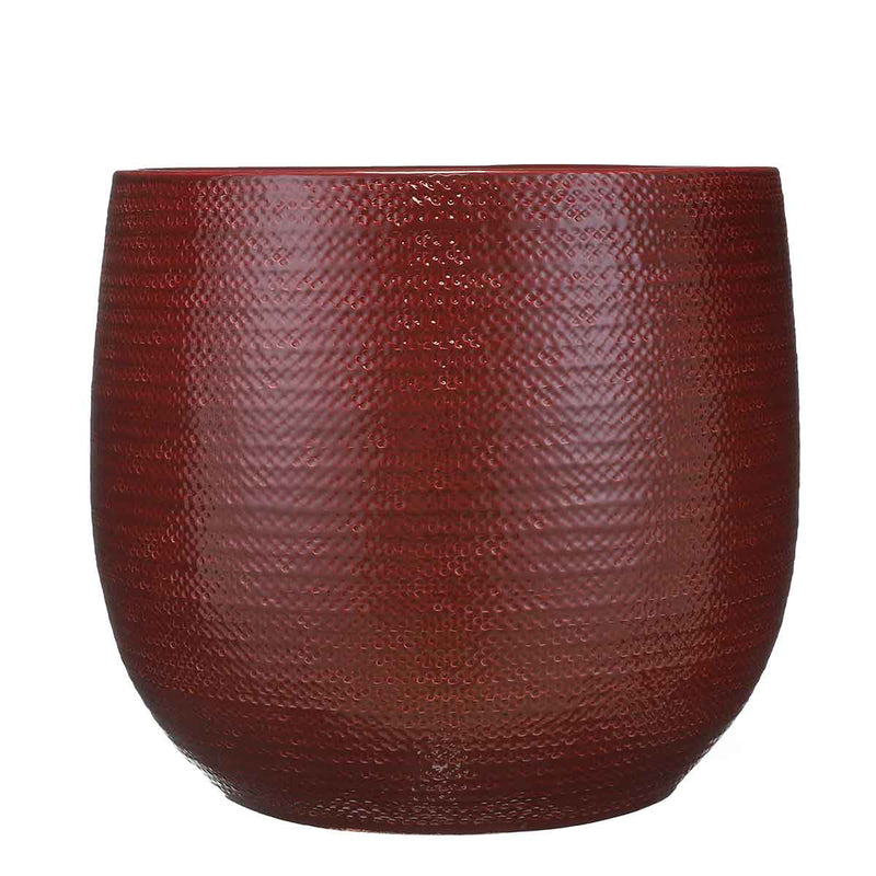 Mica Decorations gabriel ronde pot bordeaux maat in cm: 33 x 38