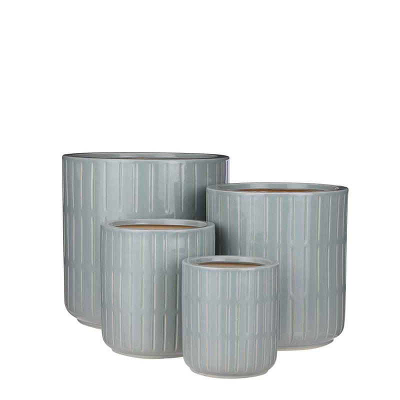 Mica Decorations Lars Ronde Pot - H29 x Ø29 cm - Set van 4 - Mintgroen