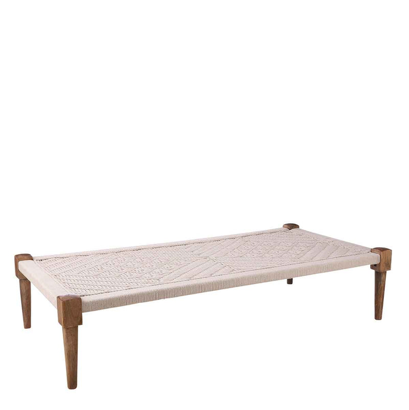 Mica Decorations Loungebed - 180 x 90 x 40 cm - Wit