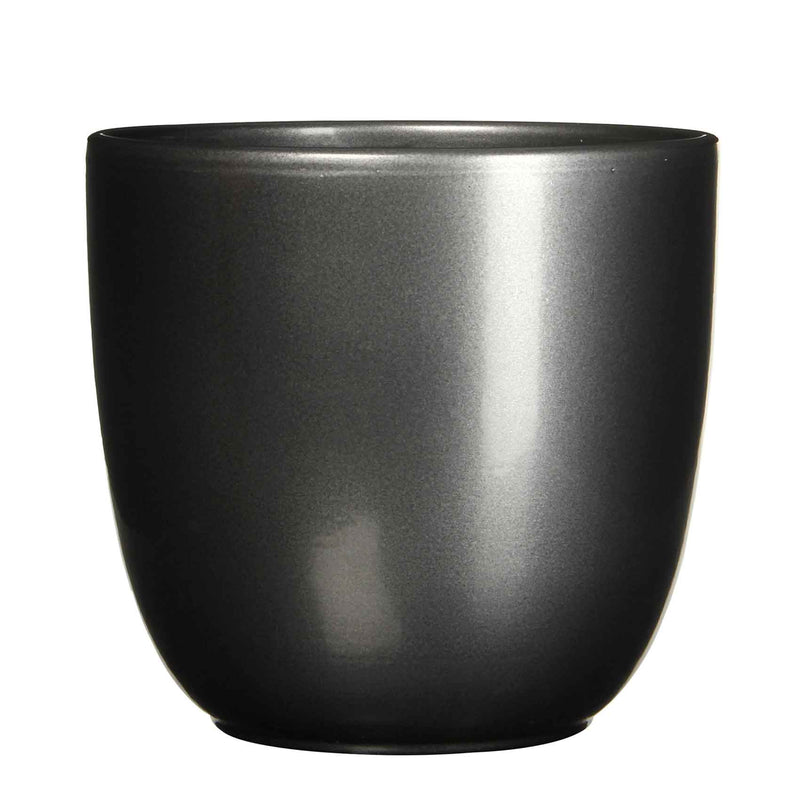 Mica Decorations tusca pot rond antraciet maat in cm: 31,5 x 35