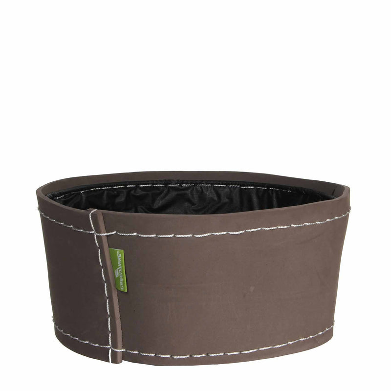 Greenware schaal rond suki maat in cm: 13x28 taupe