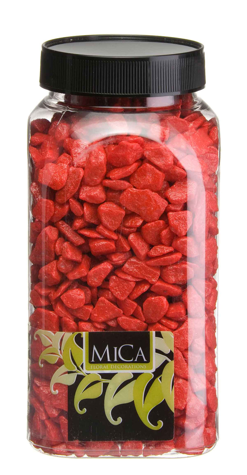 Mica Decorations steentjes mica rood