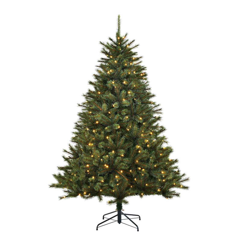 Black box kunstkerstboom led toronto fir maat in cm: 215 x 145 groen 280 lampjes met warmwit led