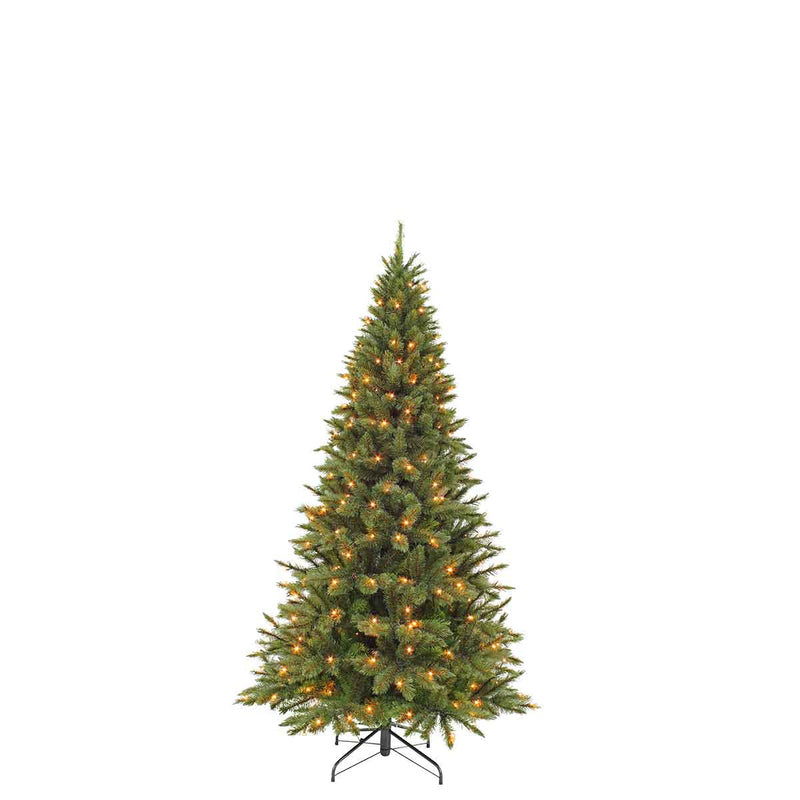 Triumph Tree smalle kunstkerstboom led forest frosted maat in cm: 155 x 86 groen 120 lampjes met warmwit led