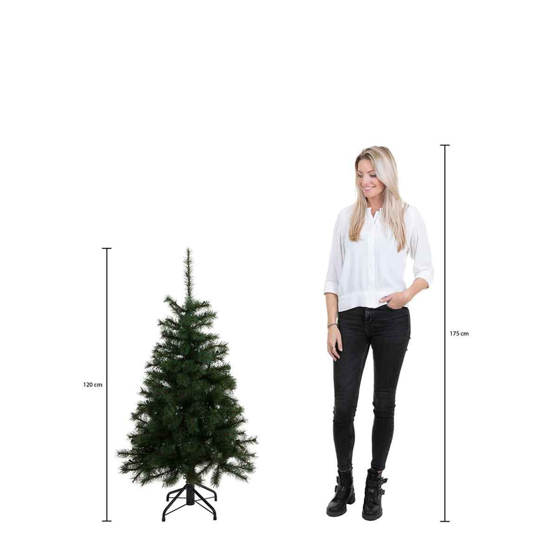 Triumph Tree Franse kunstkerstboom forest frosted maat in cm: 120 x 99 groen