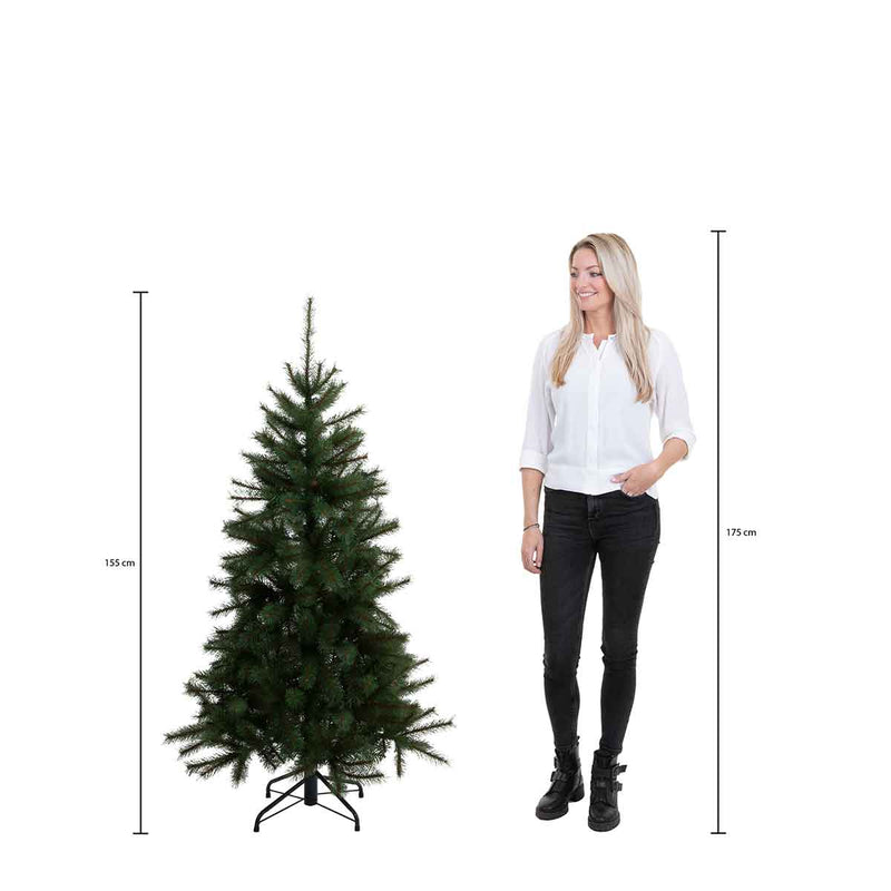 Black Box frosted stelton kerstboom met warmwit led groen tips 923 maat in cm: 155 x 112