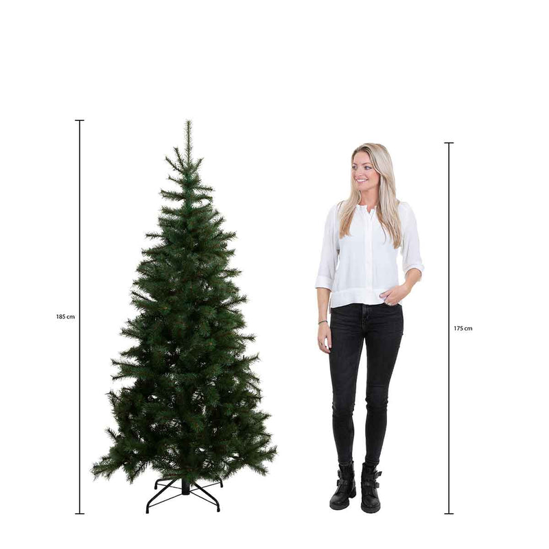 Triumph Tree hallarin kerstboom met warmwit led groen frosted 216 lampjes tips 1396 maat in cm: 185 x 117