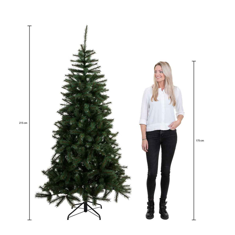 Black Box montane kerstboom met warmwit led groen frosted 3300 lampjes tips 2118 maat in cm: 215 x 127