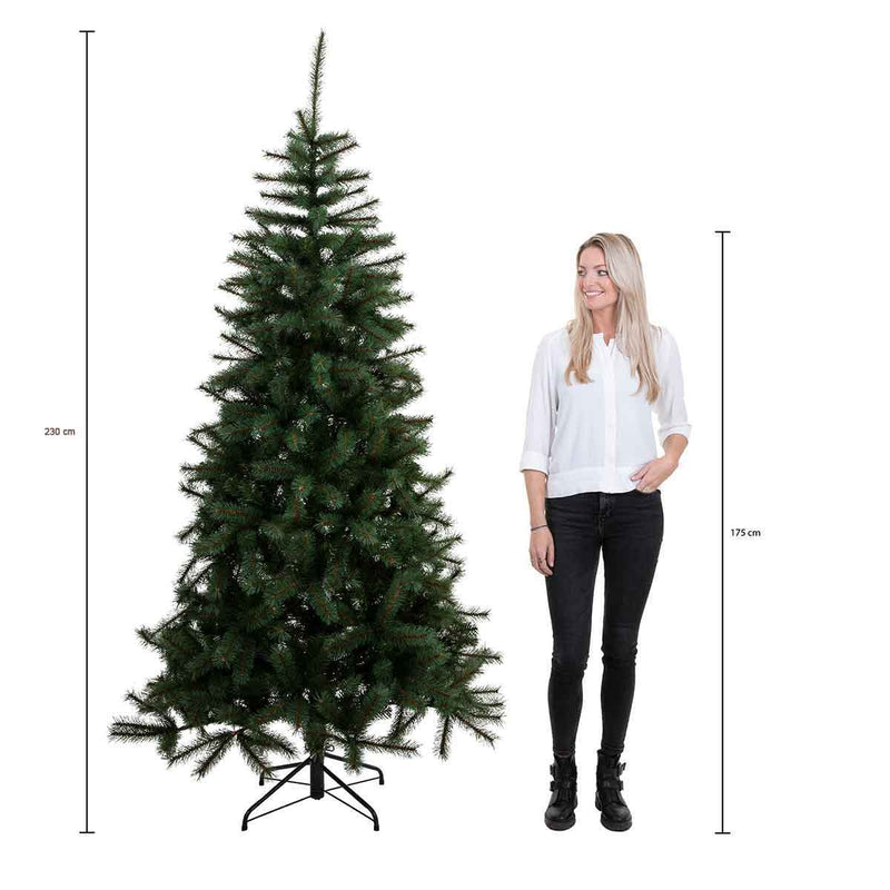Triumph Tree hackberry kerstboom groen tips 3772 maat in cm: 230 x 150