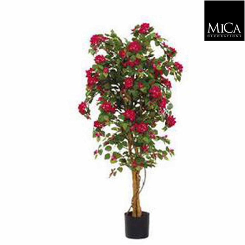 Mica Decorations bougainvillea boom maat in cm: 145 x 80 roze in plastic pot