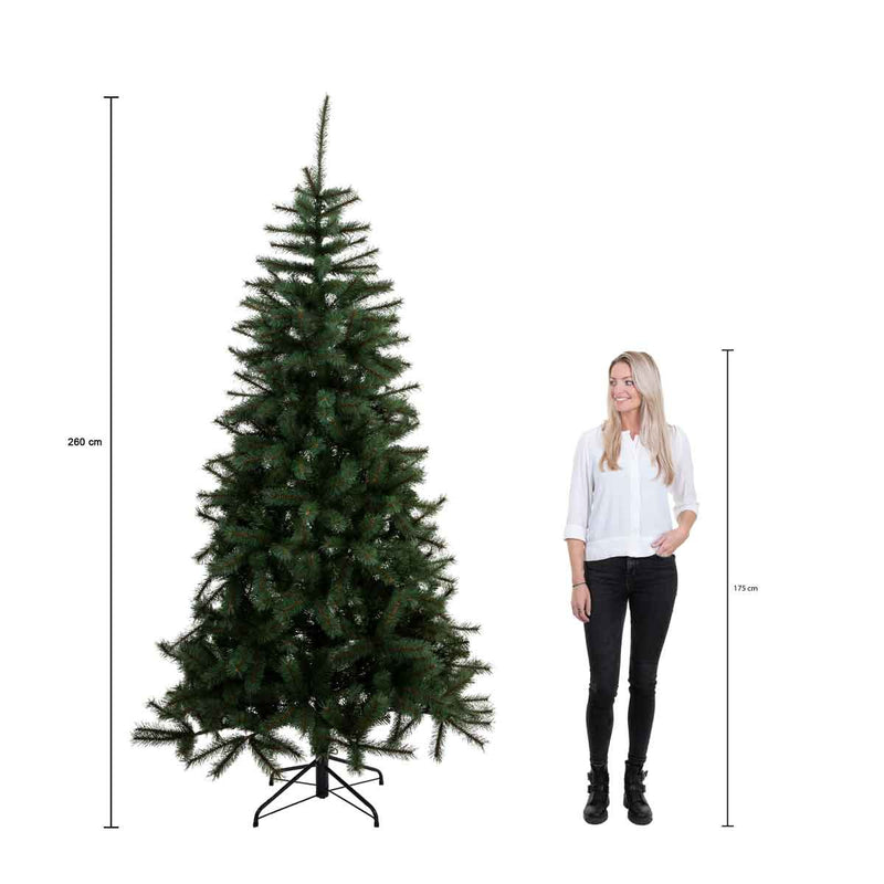 Triumph Tree kunstkerstboom forest frosted maat in cm: 260 x 168 newgrowth blue