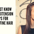 5 Must KNOW Hair Extension Tips for THIN/FINE Hair