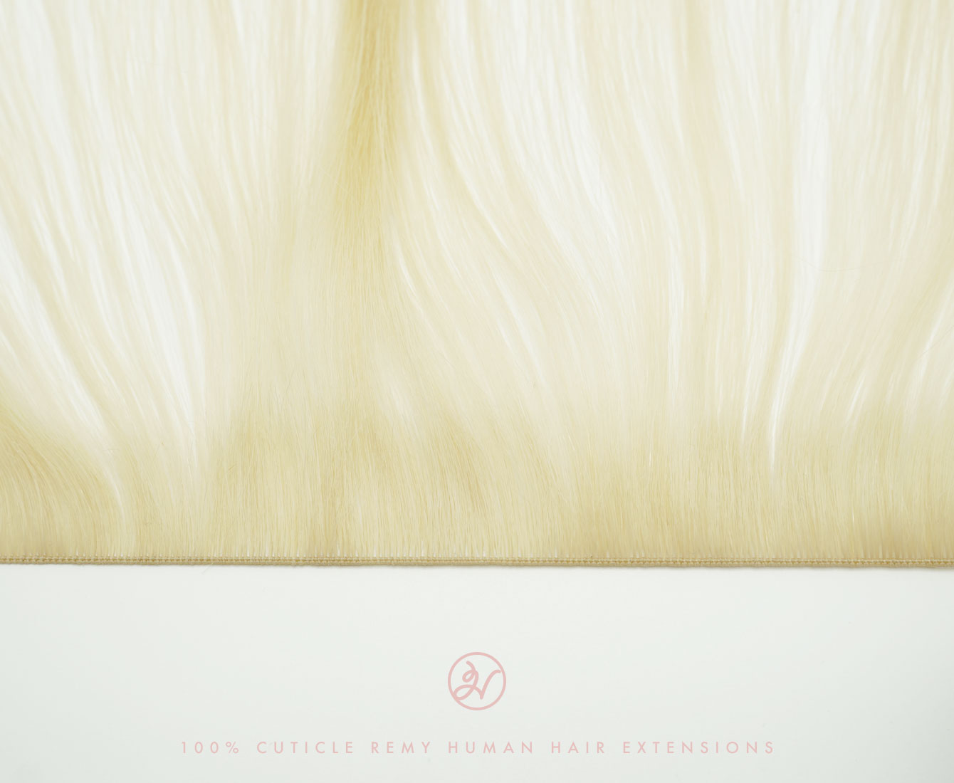 Weft of Hairlaya's Hand-Tied Hair Extensions