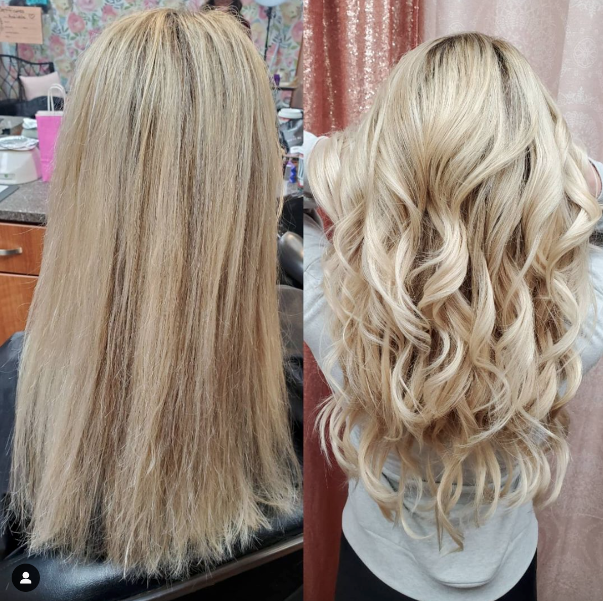 Hairlay hand-tied before after