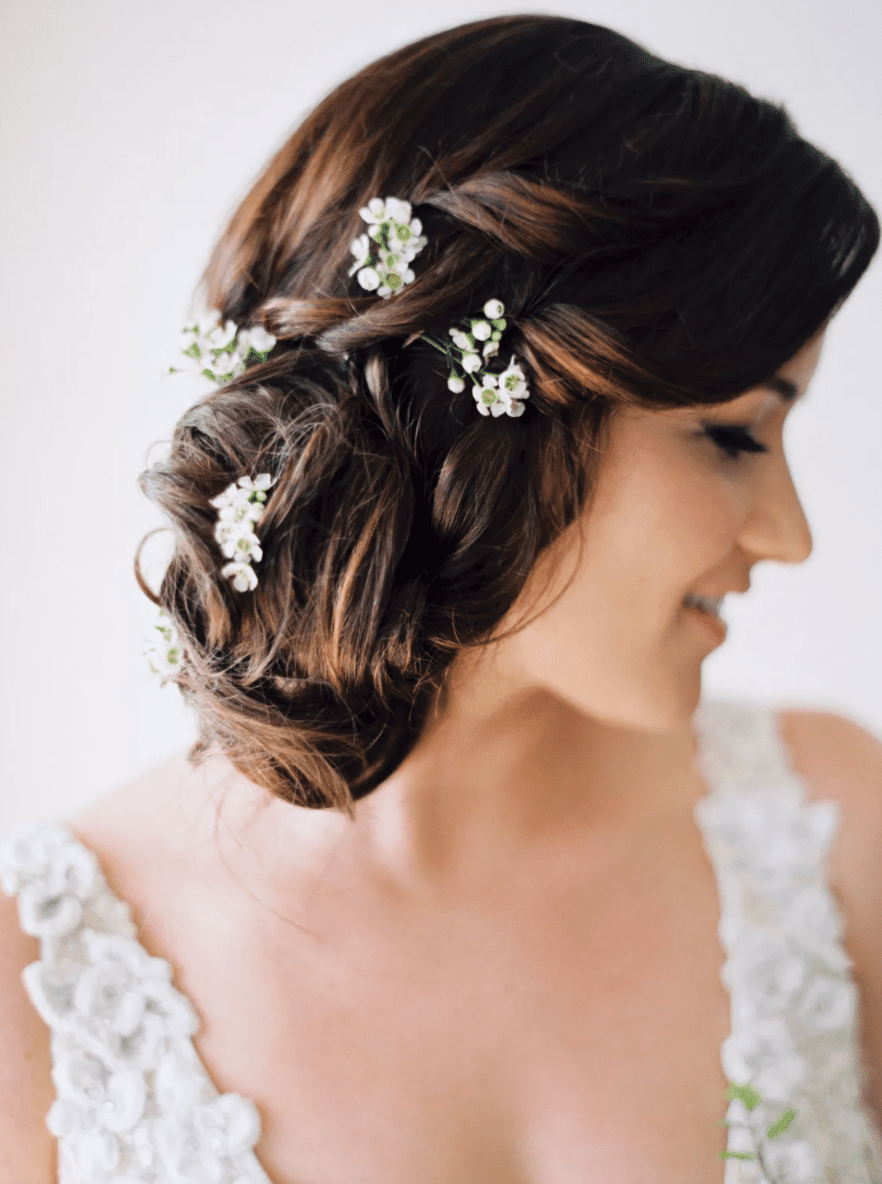 Loosely Pinned Side Updo