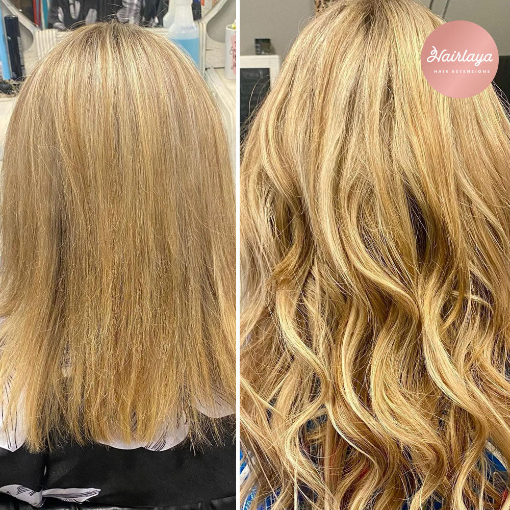 before&after Hairlaya Hand-tied