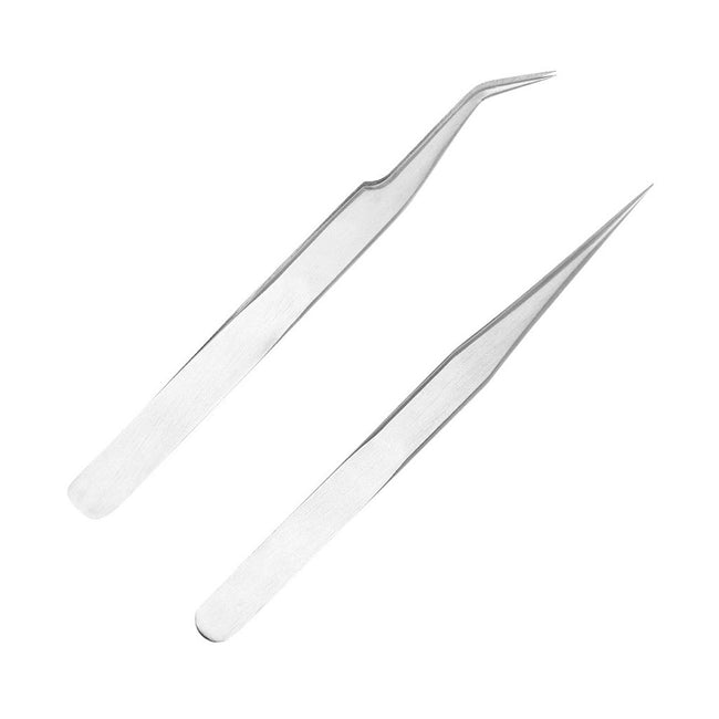 Straight Tweezer and Volume Tweezer of eyelash lifting