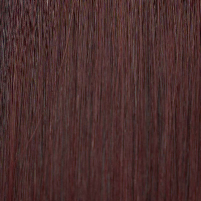 Hairlaya  Merlot Hand-Tied Wefts Hair Extensions Double Drawn Color