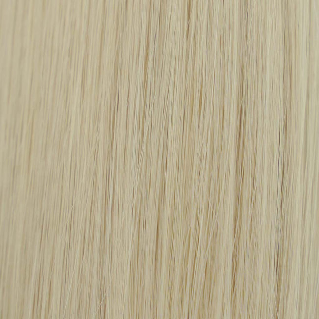 Hairlaya  Ash Blonde 60 Hand-Tied Wefts Hair Extensions Double Drawn color view